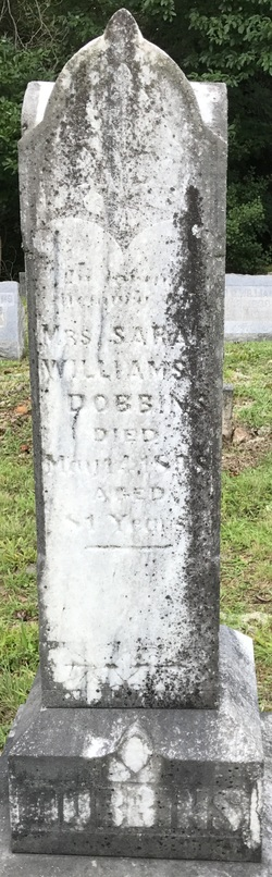 Sarah L <I>Williams</I> Dobbins