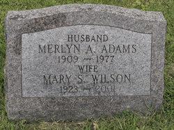 """Mary """"Shirley"""" <I>Wilson</I> Adams"""