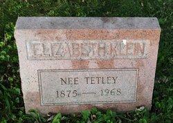 Elizabeth <I>Tetley</I> Klein