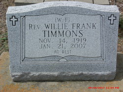 Rev Willie Frank Timmons