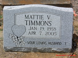 Mattie Vera Timmons