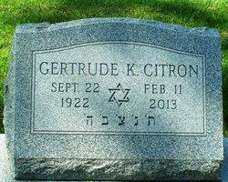 Gertrude <I>Klass</I> Citron
