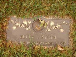 Betty L Kluth