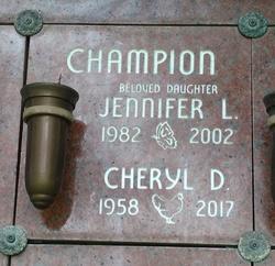 """Jennifer Lynn """"Jenny"""" Champion"""