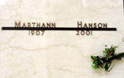 Marthann <I>Bickett</I> Hanson