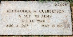 Alexander M Culbertson