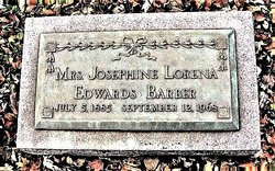 Mrs Josephine Lorena <I>Edwards</I> Barber