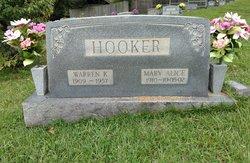 Mary Alice <I>Rice</I> Hooker