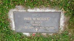 Paul M Mount, Sr