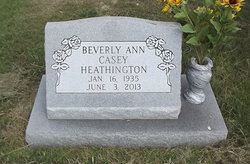 Beverly Ann <I>Casey</I> Heathington