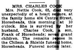 Nettie M. <I>Swain</I> Cook