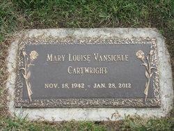 Mary L <I>Vansickle</I> Cartwright