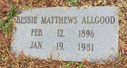 Bessie Vivian <I>Matthews</I> Allgood