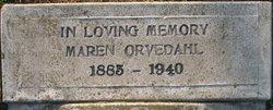 Maren <I>Larson</I> Orvedahl