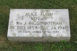 Alice <I>Allen</I> Higginbotham