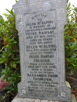 Helen McAlpine Ramsay (1872-1936) - Find A Grave Memorial Helen Ramsay Obituary