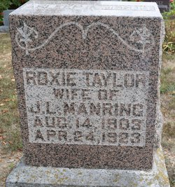 Roxie G. <I>Taylor</I> Manring
