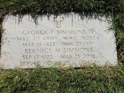MAJ George F Simmons, IV