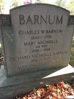 Mary <I>Nicholls</I> Barnum