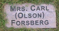 Clara <I>Olson</I> Forsberg