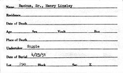 Henry Linsley Backus, Sr.