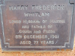 "Harry Frederick ""Fred"" Whitlam"