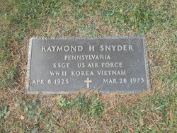 Sgt Raymond H Snyder