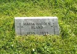 Maria <I>Harden</I> Bland