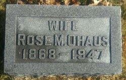 Rose M. <I>McKeever</I> Ohaus