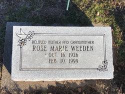 Rose Marie <I>Wilson</I> Weeden