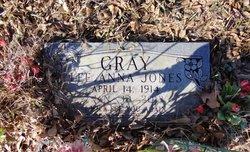 Lee Anna McGaughey <I>Jones</I> Gray