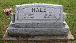 """Ollie Cordelia """"Cordy"""" <I>Bradshaw</I> Hale"""