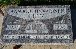 Annikki Hyvarinen Lutz