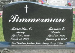Marian E <I>Runde</I> Timmerman