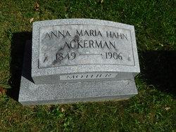 Anna Maria <I>Hahn</I> Ackerman