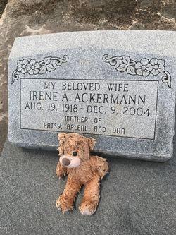 Irene <I>Arnold</I> Ackermann