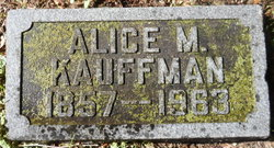 Alice Mathilda <I>Gilbert</I> Kauffman