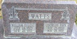 Ethel Gertrude <I>Park</I> Watts