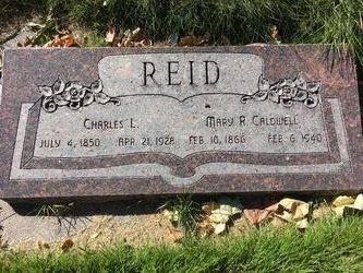 Mary Rebecca <I>Caldwell</I> Reid