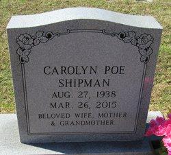 Carolyn Ann <I>Poe</I> Shipman