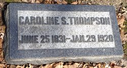 Caroline Smith <I>Chamberlain</I> Thompson