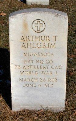 Arthur T Ahlgrim