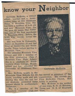 Gertrude C. <I>Schaefer</I> McBride