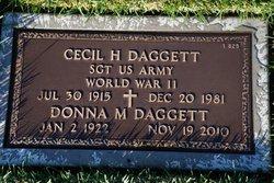 Cecil H Daggett