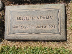 Bessie E Adams