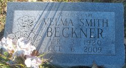Velma Elnora <I>Smith</I> Beckner