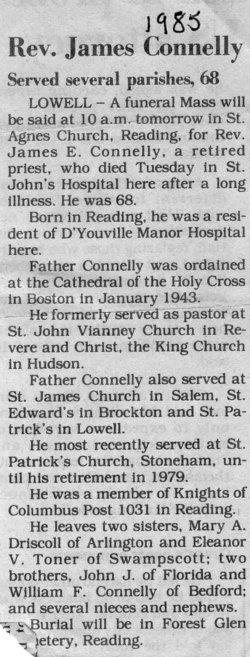 Rev James E. Connelly