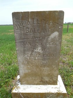 Julia Elizabeth <I>Sawyer</I> Ballance