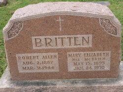 """Mary Elizabeth """"Bessie"""" <I>McBrien</I> Britten"""