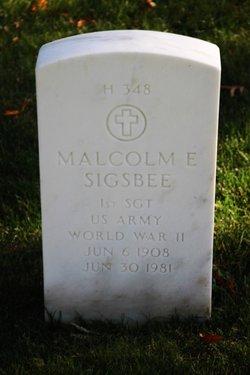 Malcolm E Sigsbee